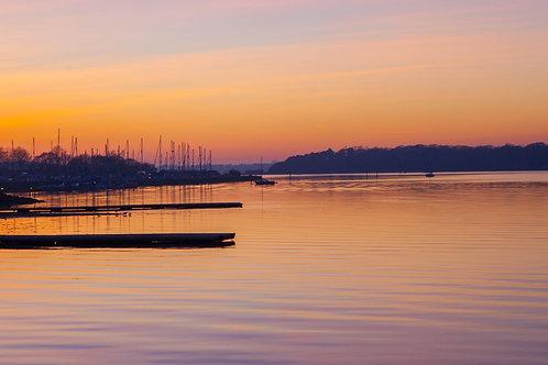 Marina Boats Sunset - Photo Print
