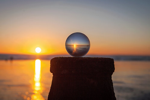 Crystal Ball Breakwater Sunset - Photo Print