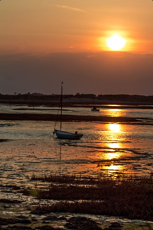 West Wittering Boat Sunset - Photo Print