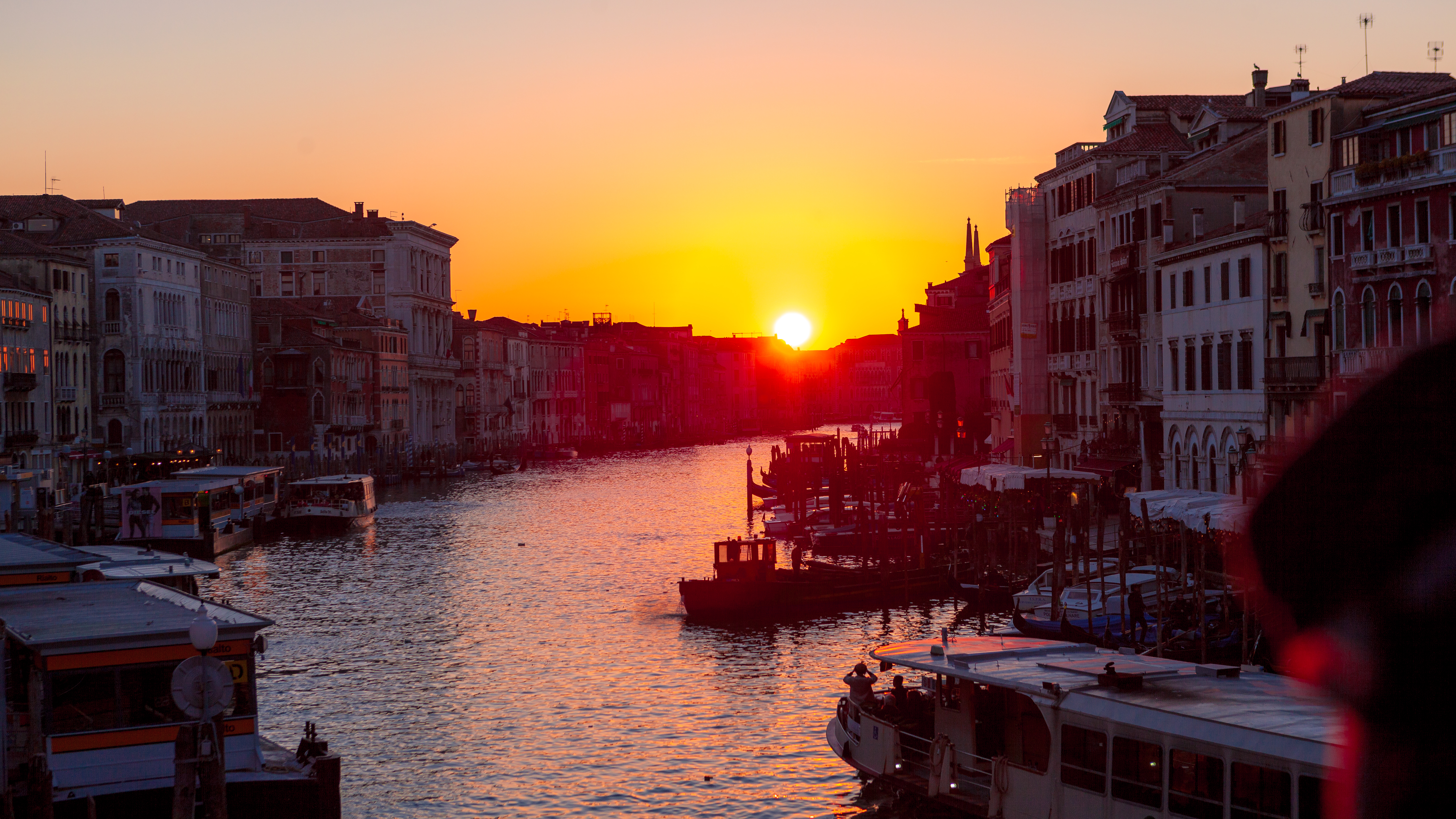 Sunset over the grand canal - Venice