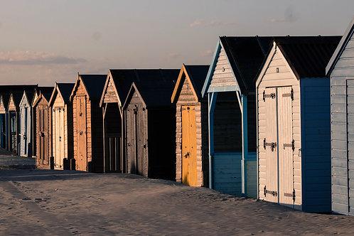 Beach Huts At Sunset - Photo Print