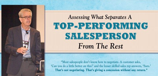 What separates top performing sales rep.
