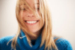 woman smiling showing her teeth