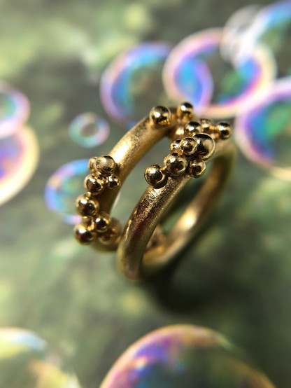 10K Gold Bubble Ring. Contect designer to inquire about princing in other metals.