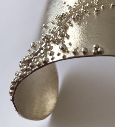 Sterling Silver Cuff Bracelet - Detail