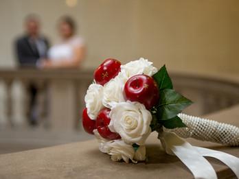 Details. City Hall Wedding. Bouquet.