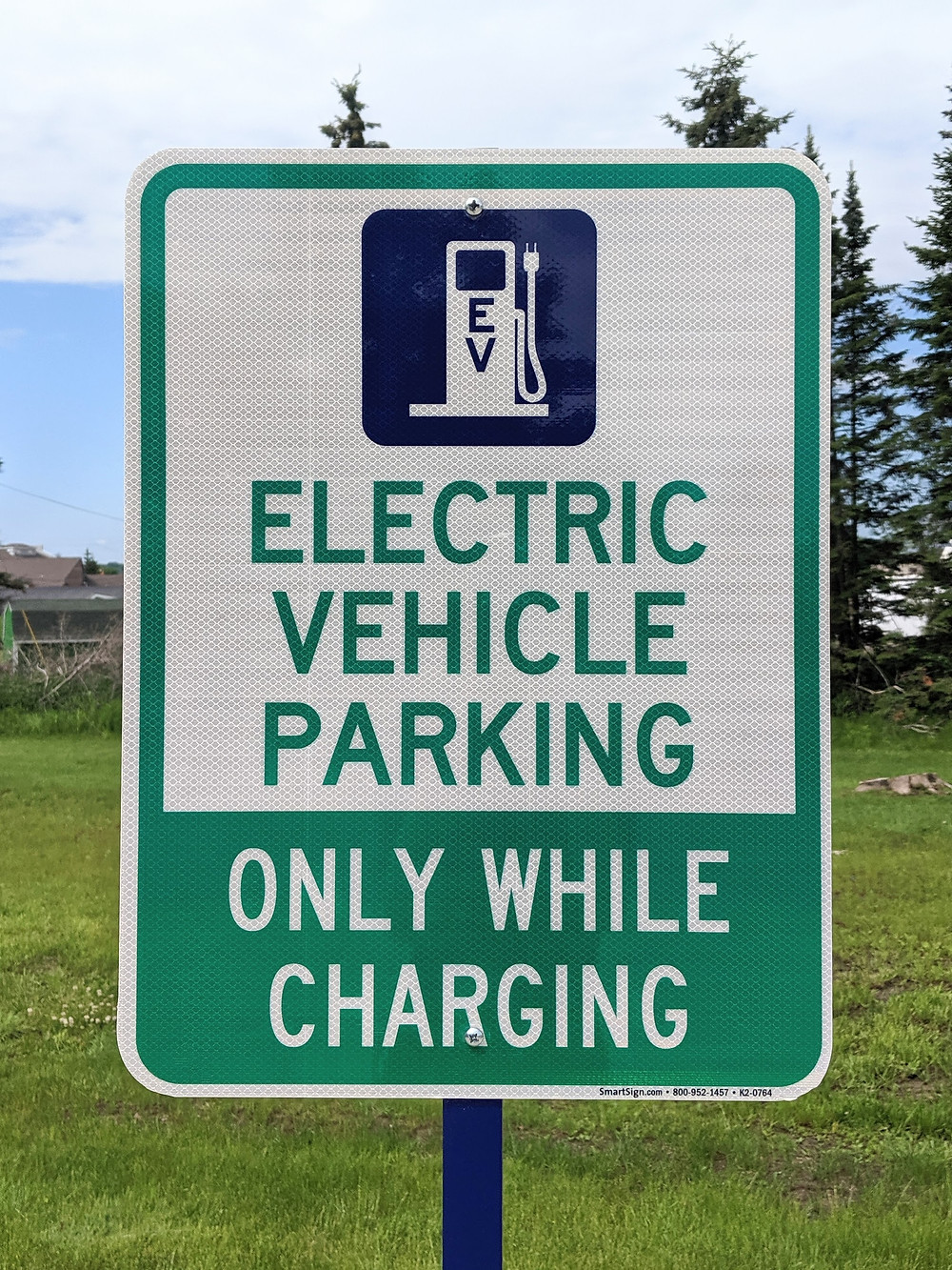 Electric car charging is now an amenity at the Hampton.