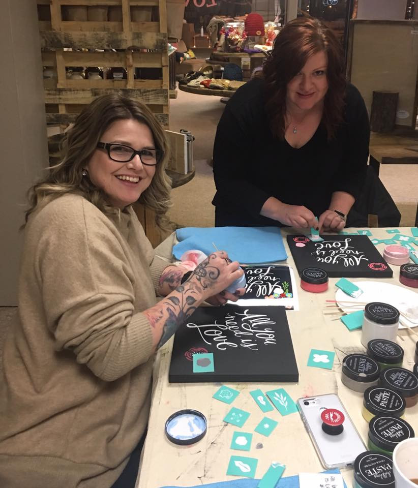 Painting, chalking, and stenciling are all on the roster of classes offered by The Little Gift Shop.
