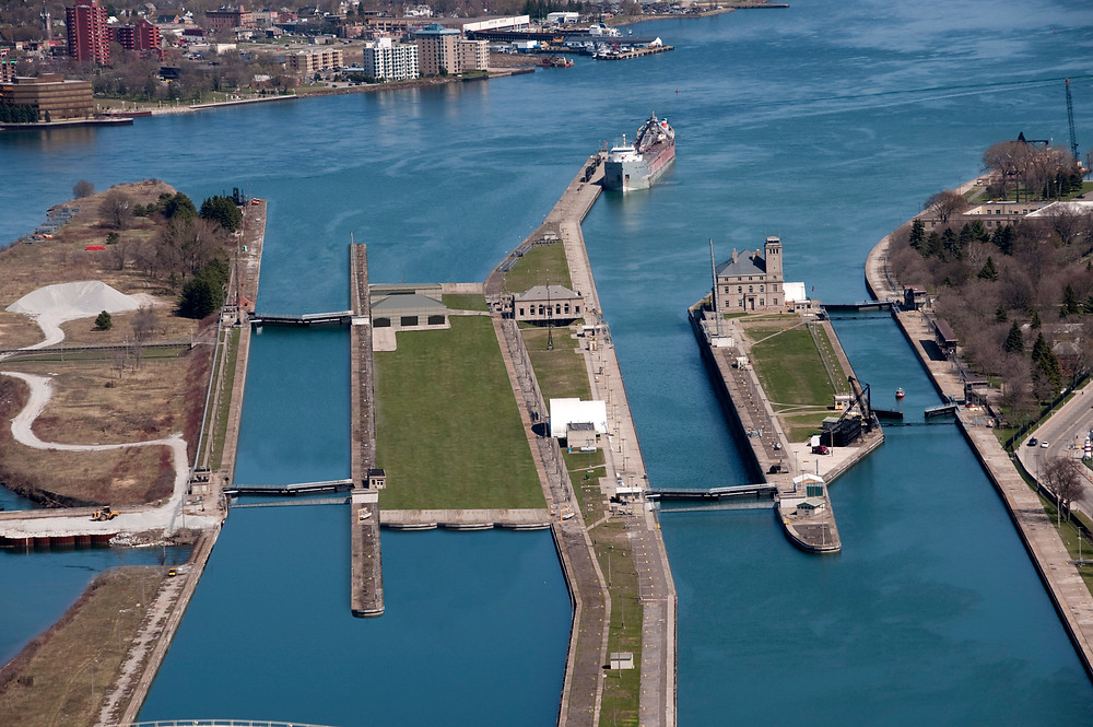Current view of the Soo Locks