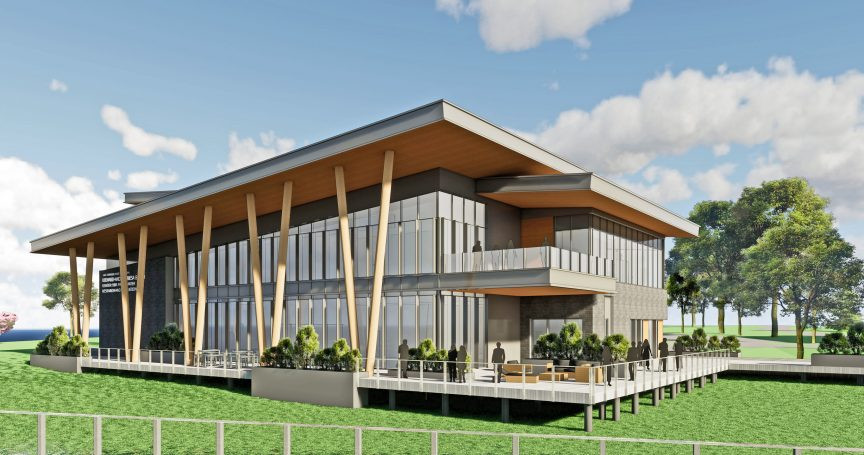 Schematic of the new CFRE facility on West Portage Ave.
