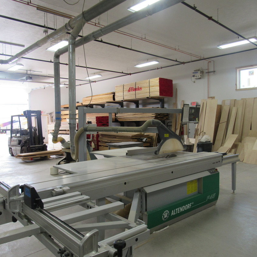 Inside the manufacturing space