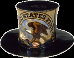 19th century fire hat