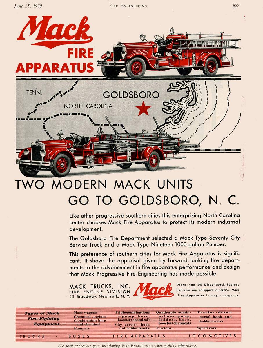 1930 Fire Engineering advertisement