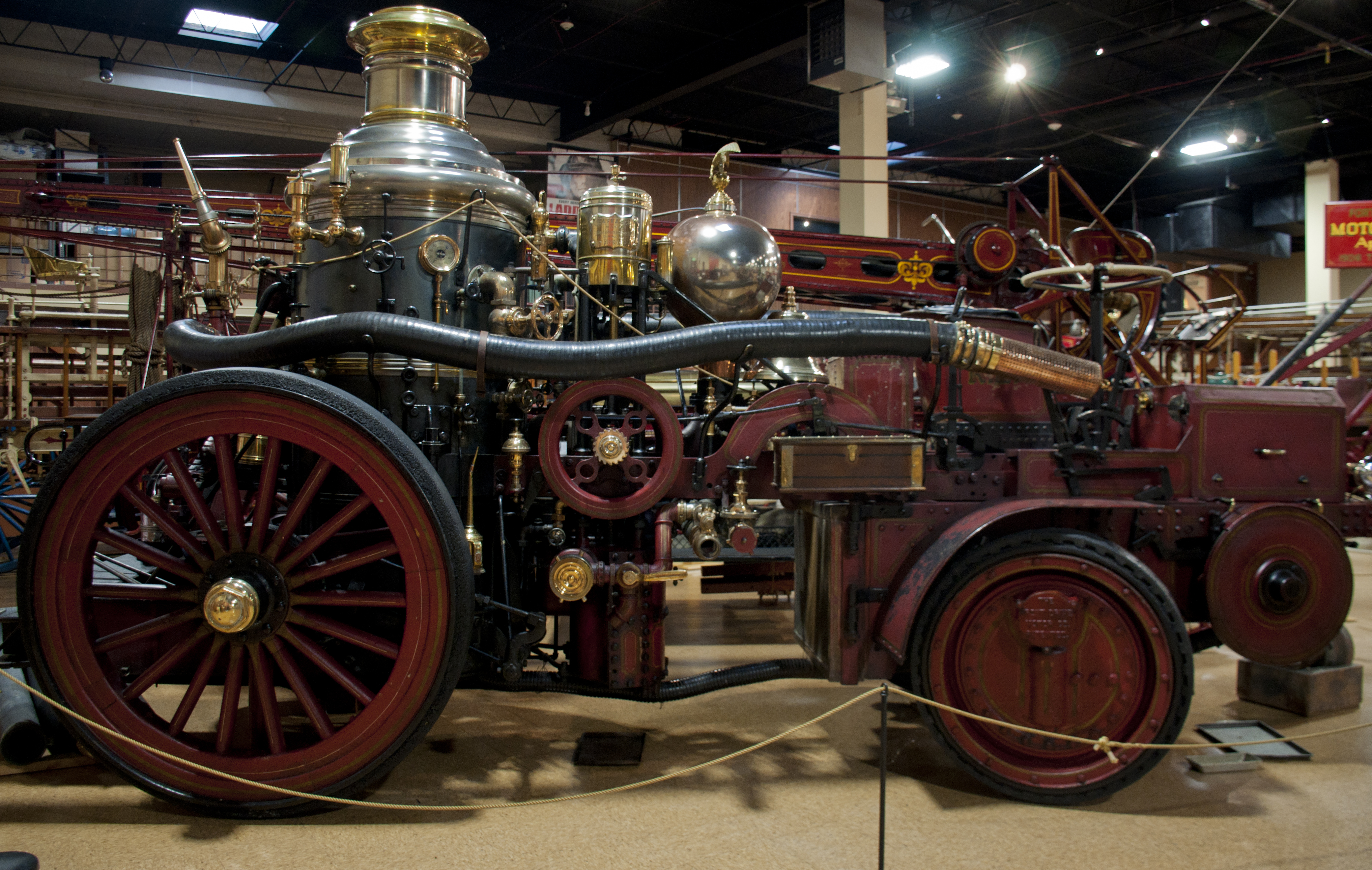 LaFrance Steamer w/Christie Tractor