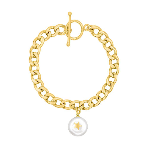 Pearl Star Chain Bracelet - Laviandbelle