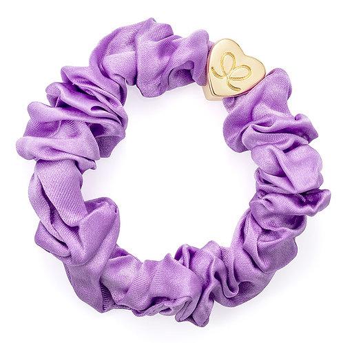 Lilac Silk Scrunchie - ByEloise LondonLilac