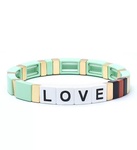 Mint LOVE Tile Bracelet