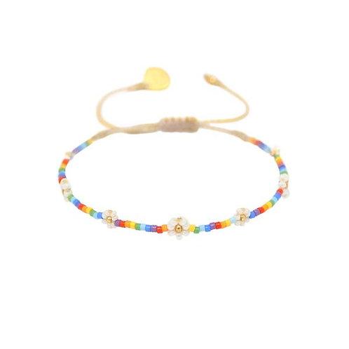 Rainbow Flower Bracelet - Mishky