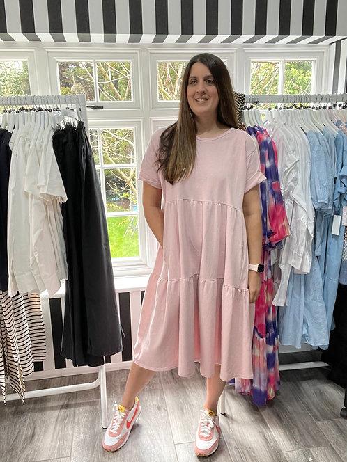 Catherine Tiered Midi Smock Dress