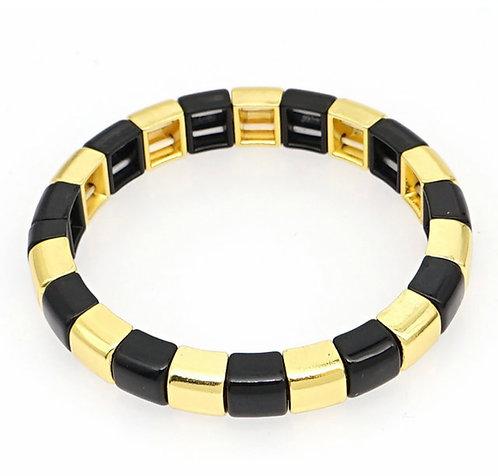 Stacking Enamel Tile Bracelet
