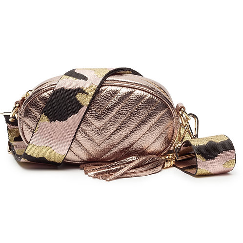 Quilted Leather Cross Body Bag - Ellie Beaumont