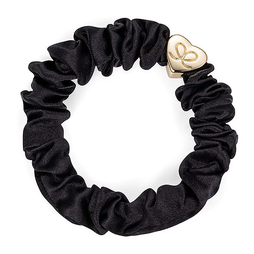 Black Silk Scrunchie - ByEloise London