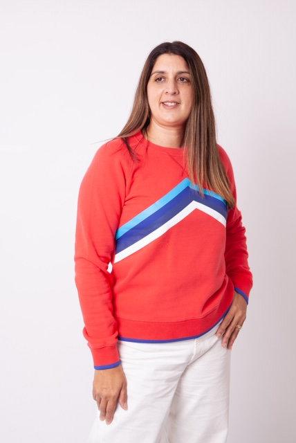 Rainbow Sweatshirt - Blaze Red- St Berts