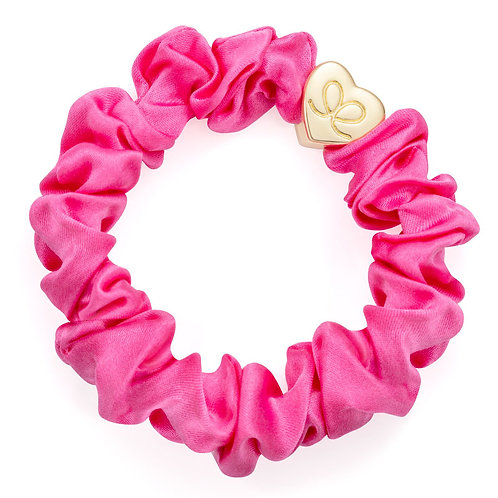 Bubblegum Pink Silk Scrunchie - ByEloise London