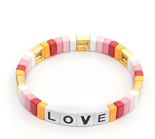 Pastel LOVE Tile Bracelet