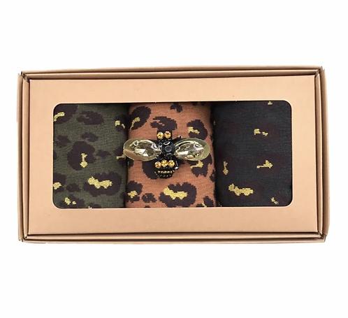 Leopard Forest Sock Box- Sixton
