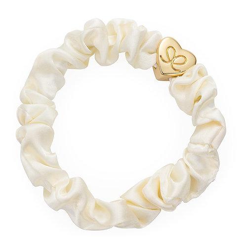 Cream Silk Scrunchie - ByEloise London