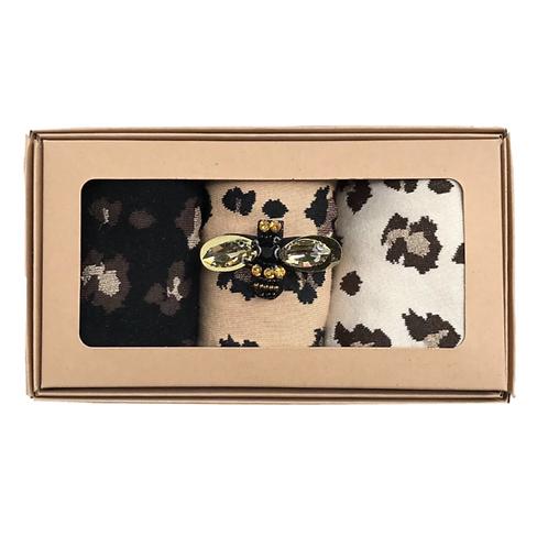 Leopard Luxe Sock Box - Sixton
