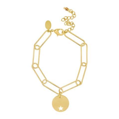 Paperclip Star Coin Bracelet - Laviandbelle