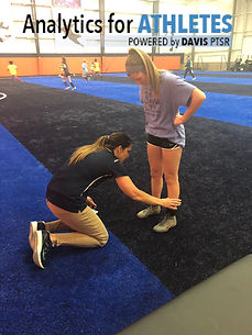 physical therapist applying DorsaVi sensors