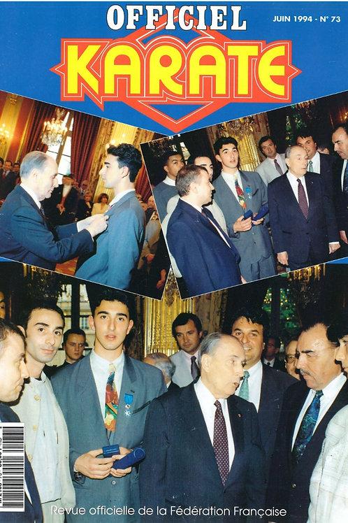 KARATE OFFICIEL #73 Juin 1994