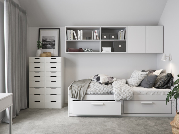BoKlok on the Brook_2 bed house_bedroom_