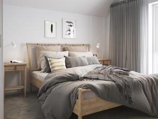 BoKlok on the Brook_2 bed house_bedroom.
