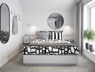 BoKlok on the Brook_3 bed house_bedroom.