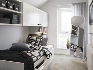 BoKlok on the Brook_3 bed house_bedroom_