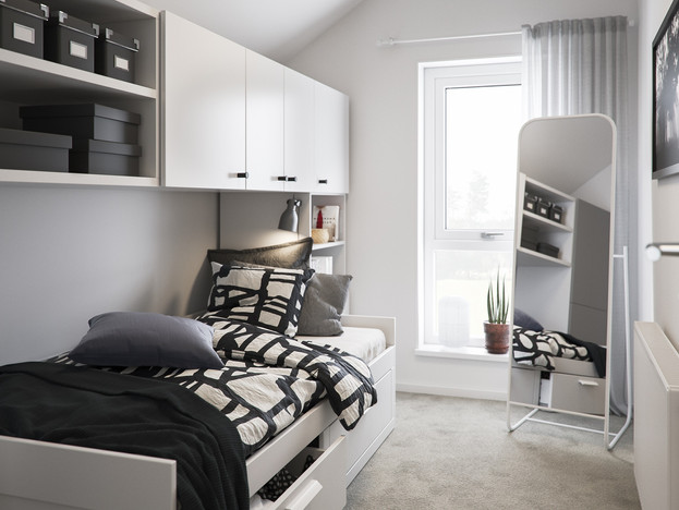 BoKlok on the Brook_3 bed house_bedroom_