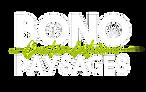 Bono paysages Logo Blanc