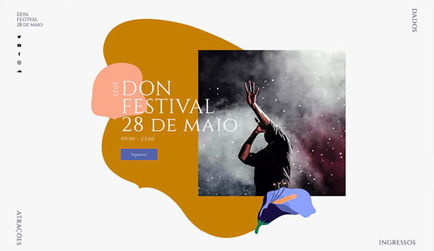 Música website templates – Festival Musical