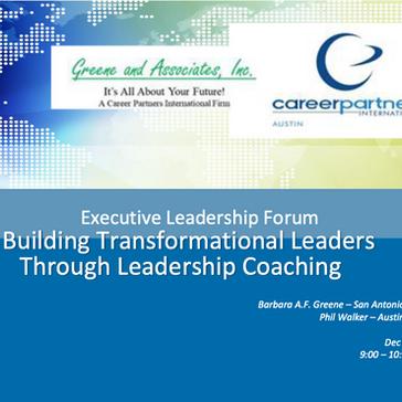 Building Transformational Leaders through Leadership Coaching