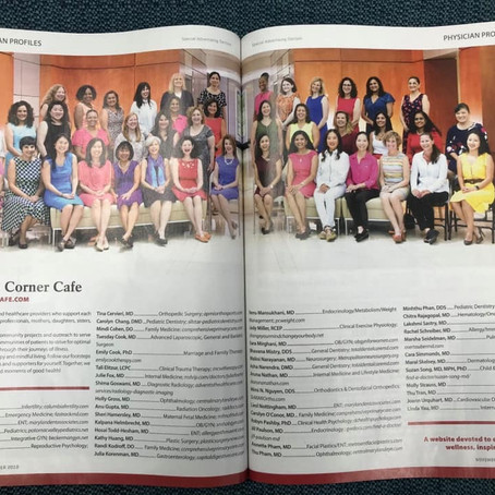 Dr. Pashby featured in Washingtonian Top Docs issue 2019