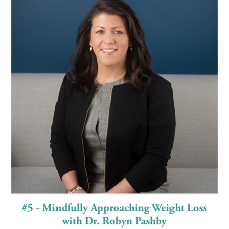 Mindfully approaching weight loss podcast interview with Dr. Robyn Pashby