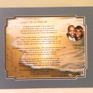 GIAF/Gift in a Frame - BBYW & Client Crafted Story Poem - Large (ordered for anniversary)