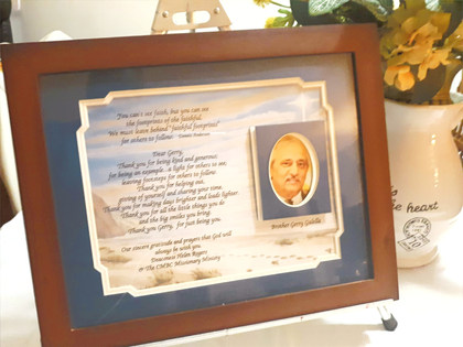 RIAF/Recognition in a Frame - w/Poem -Large