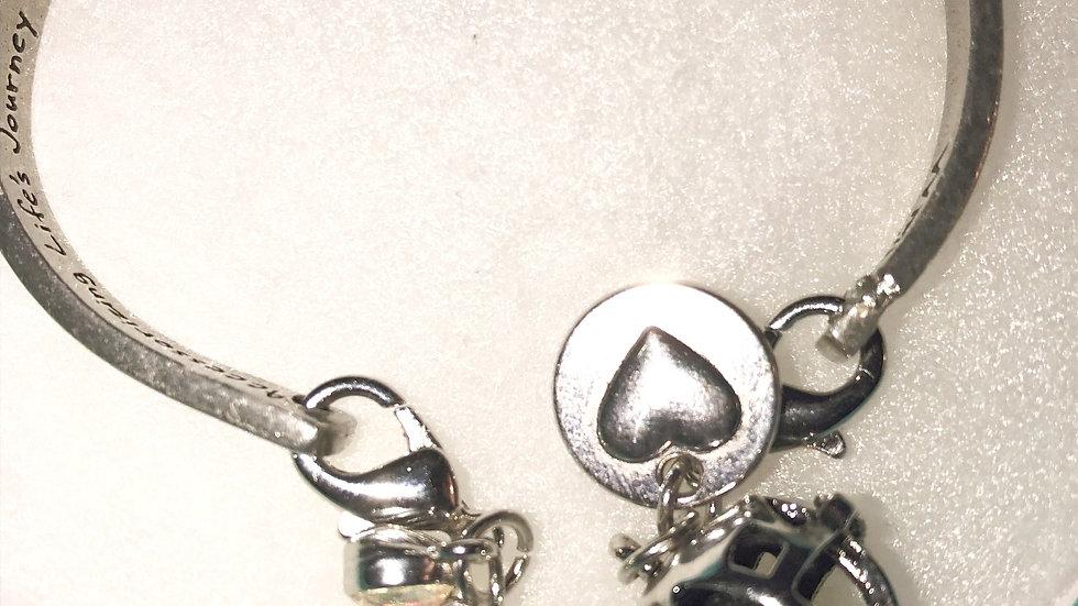 Aromatherapy Message Bracelet (cuff)
