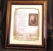 GIAF/Gift in a Frame - w/Poem -Large (made for a celebrity visitor)