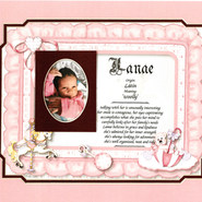 GIAF/Gift in a Frame - Name Meaning - Large (new baby)